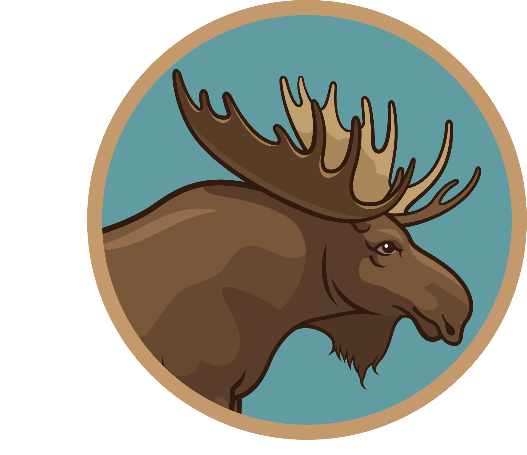 Meadowview School moose logo